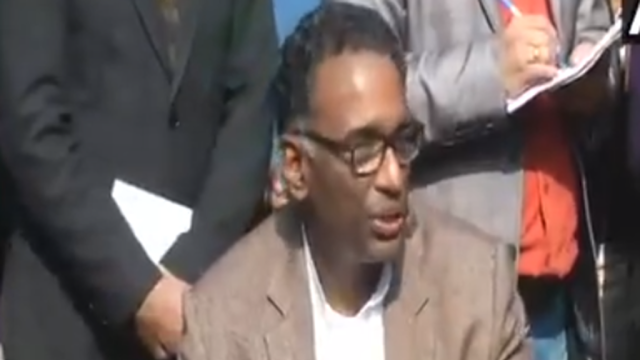 Justice Chelameswar addressing the press conference