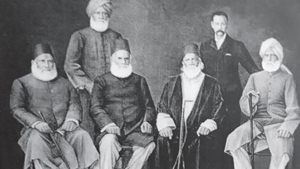 Sir Syed Ahmad Khan with his associates