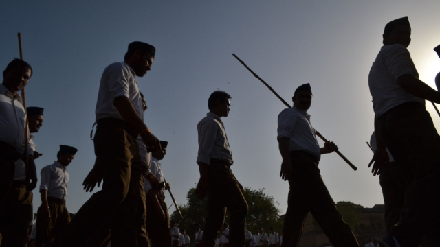File photo of RSS volunteers