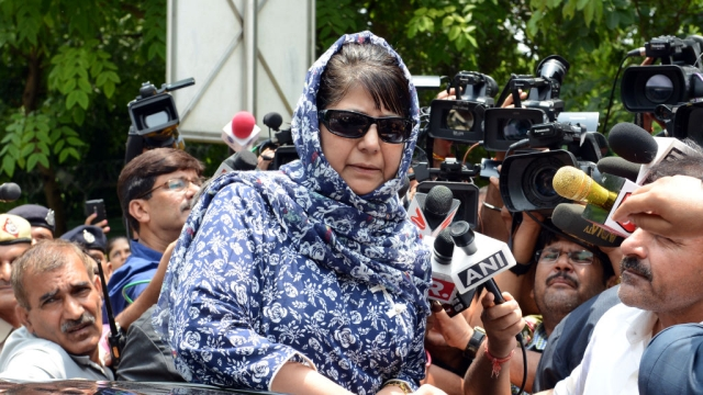 File photo of Jammu and Kashmir Chief Minister Mehbooba Mufti