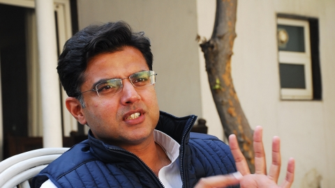 "Sachin Pilot: ""Countdown for downfall of 'maharani' Raje has begun, people angry with BJP misrule"""
