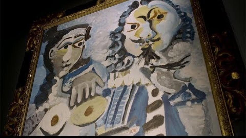 "File photo of Pablo Picasso's 1967 painting ""Mousquetaire et Nu Assis"""