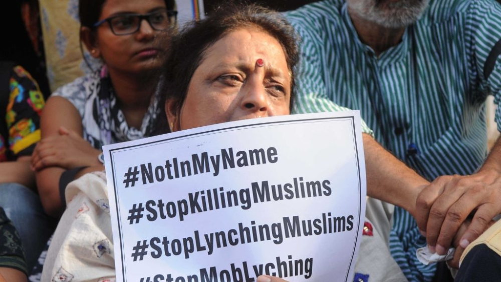 Many citizens hit the street in Lucknow and across the country for the 'Not in My Name' protests against violence against religious minorities, after Muslim teenager Junaid Khan was lynched when returning home from Eid shopping in Faridabad district, Haryana in June 2017