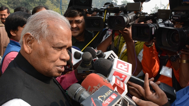 File photo of Hindustani Awam Morcha chief Jitan Ram Manjhi in Patna