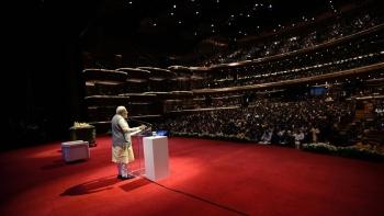 PM Narendra Modi at the Dubai Opera on February 11, during his visit to the UAE