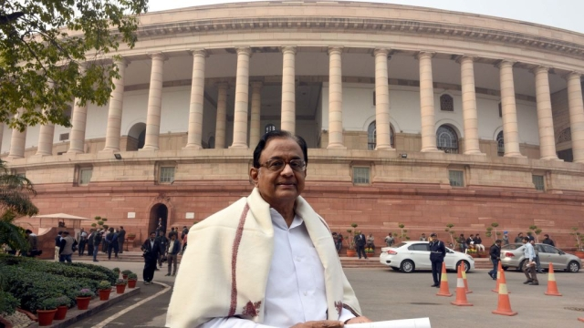 Former Union Finance Minister P Chidambaram at Parliament (file photo)