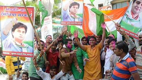 MP bypolls: Happy Holi for winning Congress, gloom for BJP