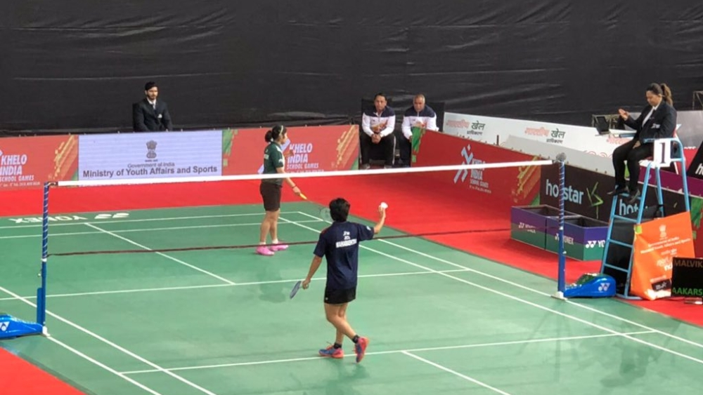 Representative image. A badminton match from the first edition of Khelo India