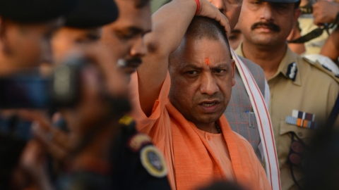 Is Yogi trying to hog all credit for BJP's performance in Karnataka?