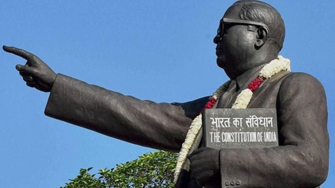 Ambedkar statue vandalised in Allahabad