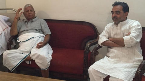 Modi ally Kushwaha meets Lalu; his  spokie  tells NH they share  same ideology