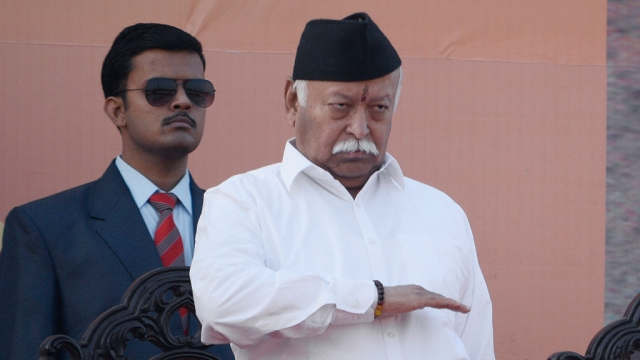 RSS Chief Mohan Bhagwat set to address a gathering of swayamsevaks and Hindu activists