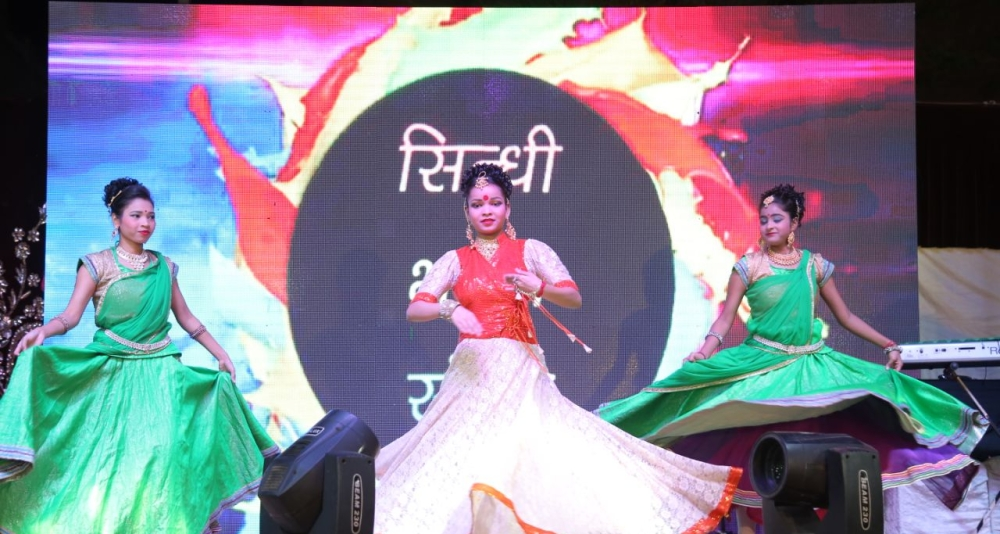 Bhawna group artists seen performing on the auspicious occasion of Chetichand a new year celebration of sindhi community at Dilli haat, Pitampura