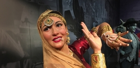 A wax model of the late Bollywood actress Madhubala at Madame Tussaud Hollywood wax museum in Delhi