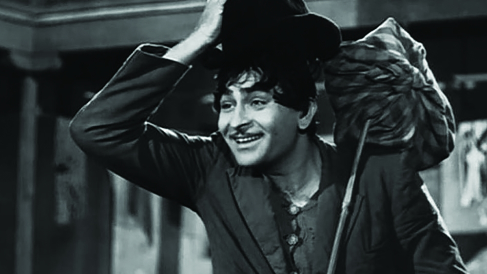 Raj Kapoor in a still from Shree 420