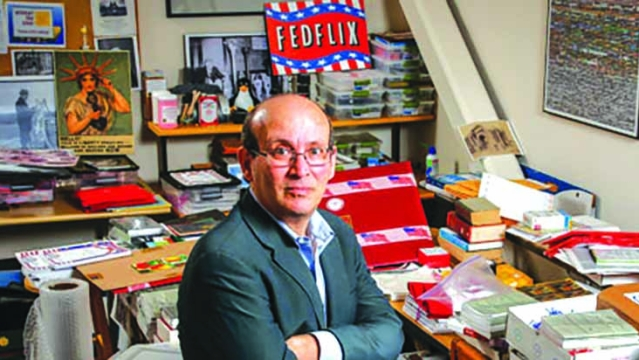 Carl Malamud in his office