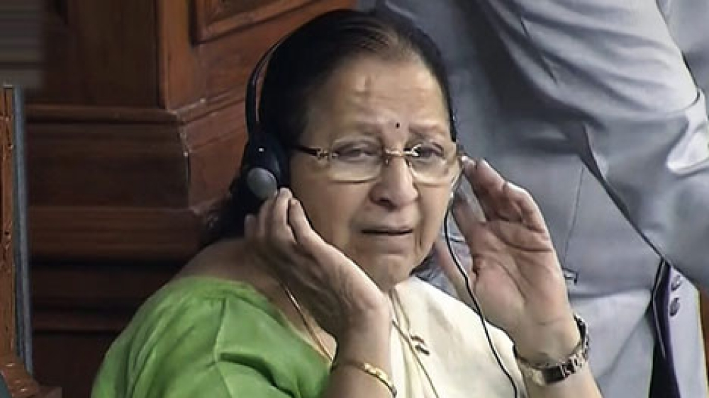 Speaker Sumitra Mahajan