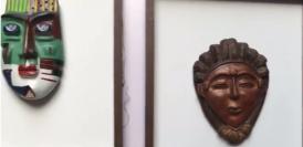 Masks on display at the 'Face Off' exhibition underway at Triveni Kala Sangam, Delhi
