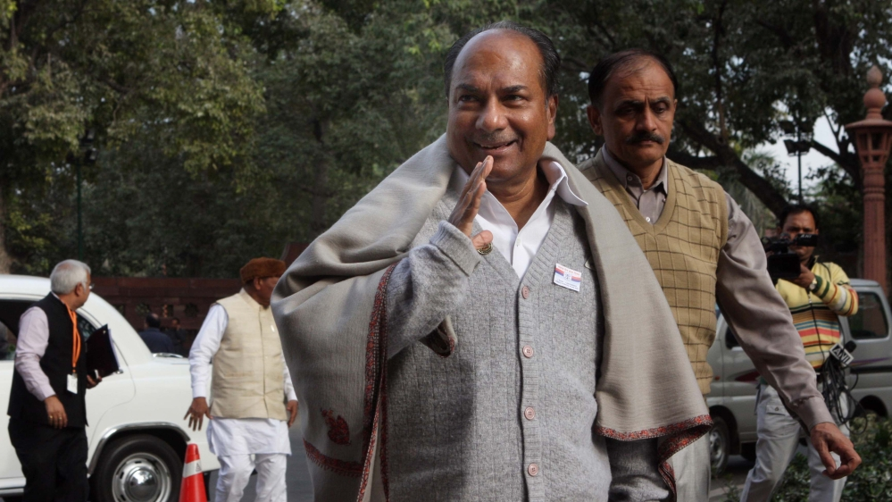 File photo of Congress leader and former Defence Minister AK Antony
