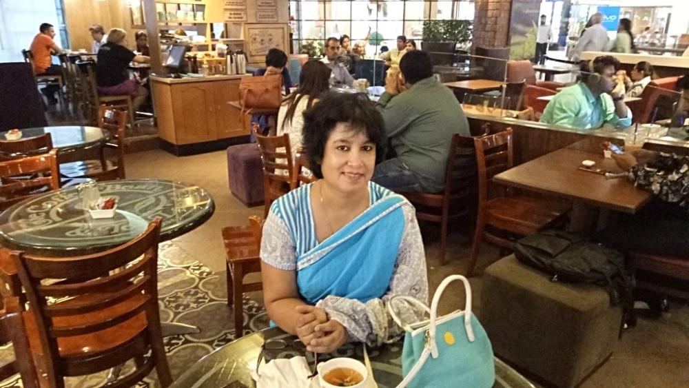 File photo of Bangladeshi author Taslima Nasreen