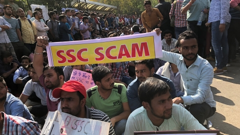 SSC Recruitment Scam: Protests spread across the country
