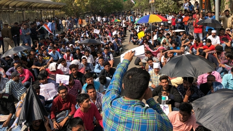 SSC Exam Scam: Police presence increases even as Rajnath assures relief to protestors