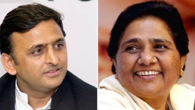 File photo of BSP supremo Mayawati and SP President Akhilesh Yadav