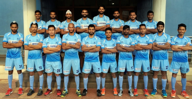 An 18-member Indian men's hockey team who will represent India at Gold Coast 2018 XXI Commonwealth Games, in New Delhi.