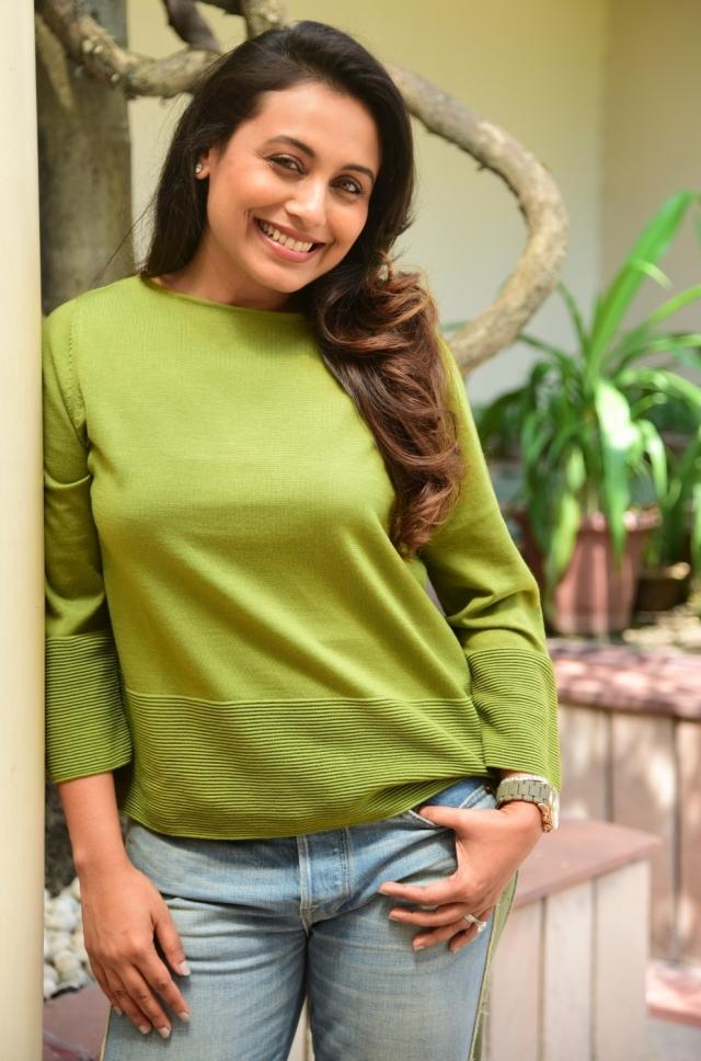 Actress Rani Mukerji during a promotional program in Kolkata.