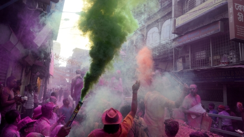 Holi: a song of seven colours