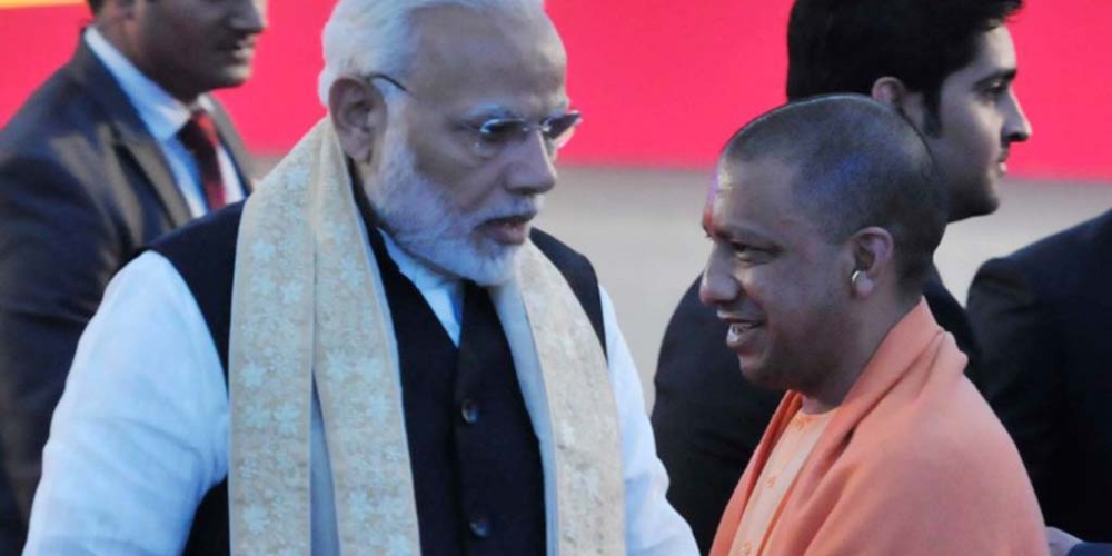 File photo of PM Narendra Modi with Uttar Pradesh Chief Minister Yogi Adityanath