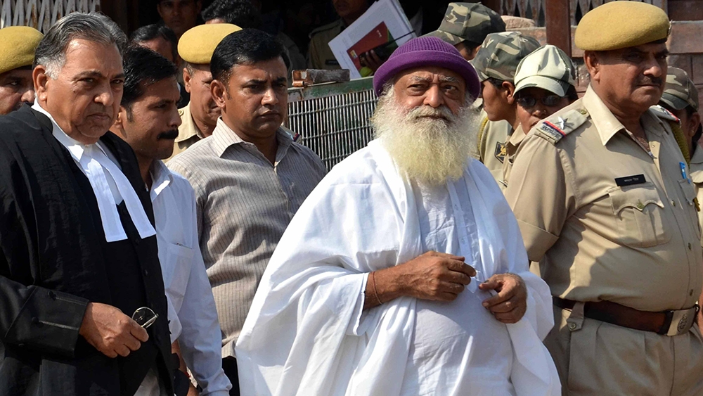 File photo of Asaram Bapu in judicial custody in Jodhpur. Asaram was convicted of raping a minor by a Jodhpur court on Wednesday, along withfour other accused