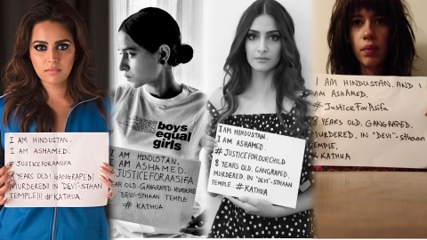 Bollywood cries for justice for rape victims in Kathua, Unnao