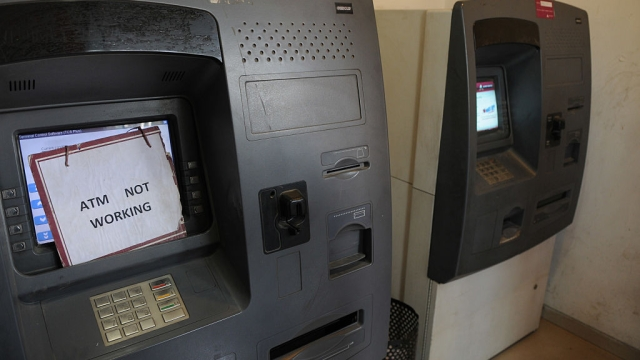 File photo of an ATM machine without cash. Representative image