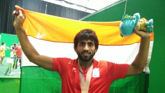 Bajrang Punia who won Gold at Glasgow CWG 2018 in wrestling (65 kg category)
