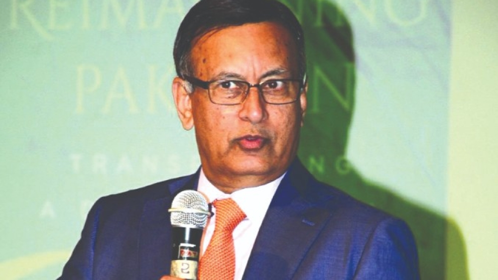 Husain Haqqani at an event in New Delhi