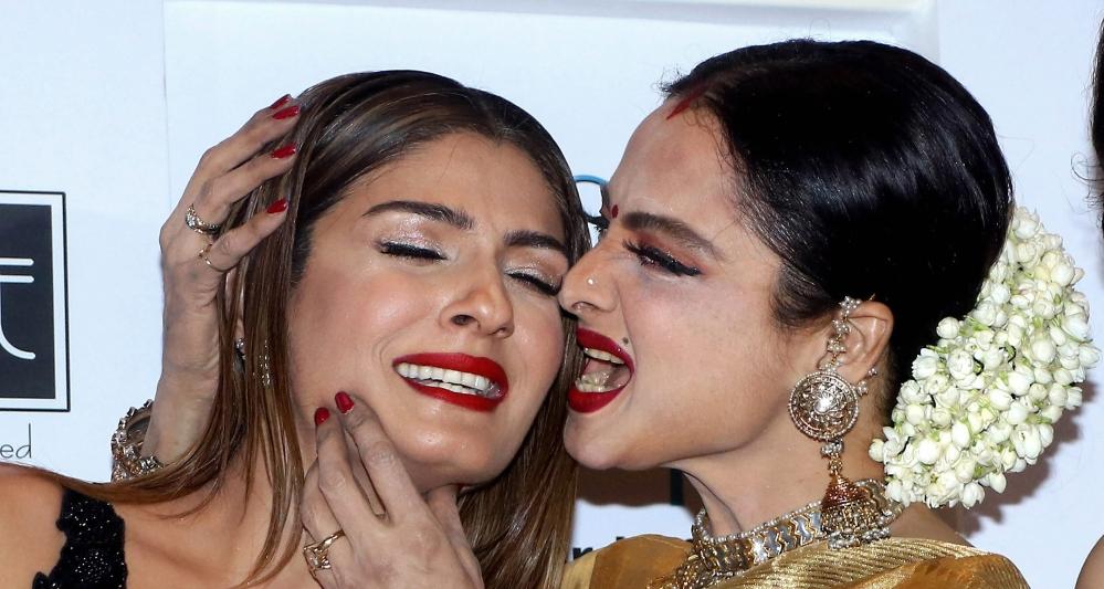 Bollywood actress Rekha and Raveena Tandon during the 11th GeoSpa asiaSpa India Awards 2018 in Mumbai.