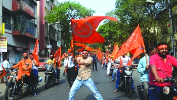 Over the years Ram Navami processions in Bengal are getting bigger and louder, more ostentatious and more belligerent