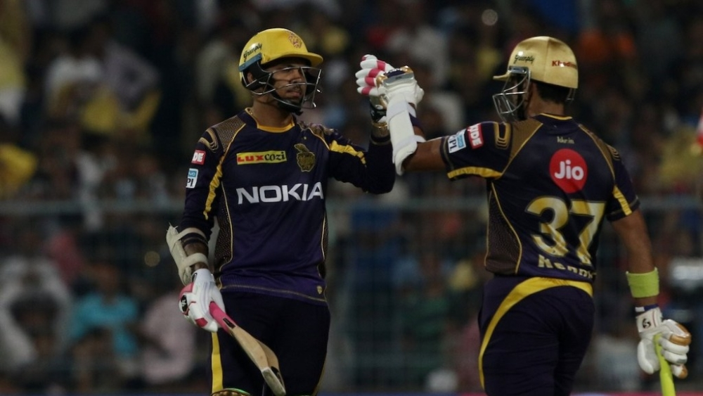 Sunile Narine completed his fifty off just 17 balls, helping KKR to start strong