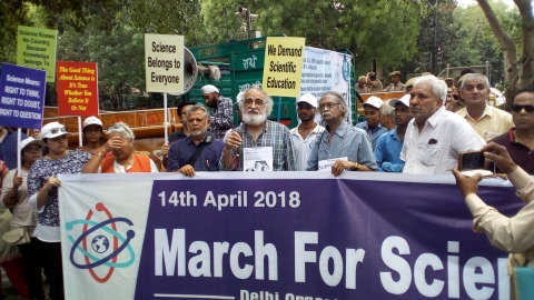 Scientists protest Centre's apathy towards science, education, research