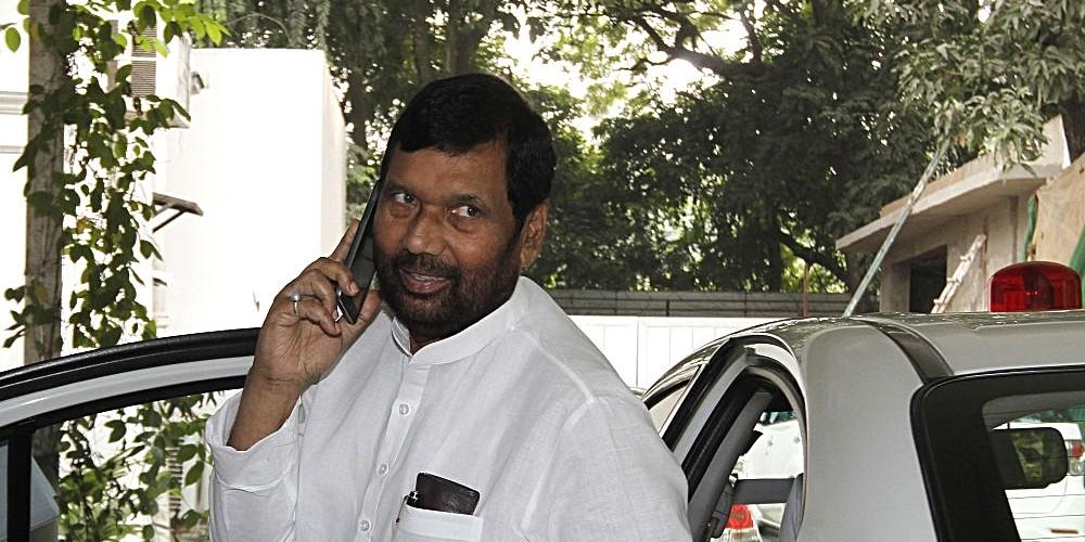 File photo of Lok Janshakti Party Chief and Union Minister Ram Vilas Paswan