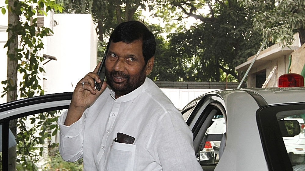 File photo of Lok Janshakti Party Chief and Union Minister Ram Vilas Paswan