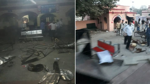 Rajasthan: Houses of Dalit  MLA, former minister set on fire in Hindaun
