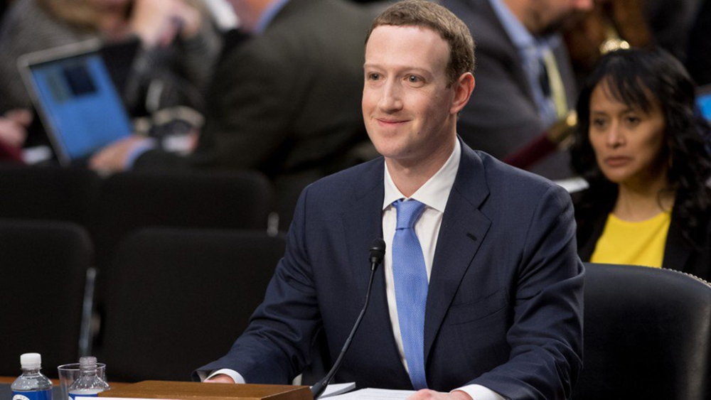 Facebook CEO Mark Zuckerberg at the US Senate hearing on Tuesday