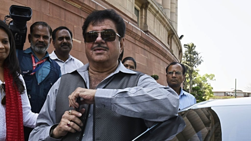 File photo of BJP Patna Sahib MP Shatrughan Sinha at Parliament