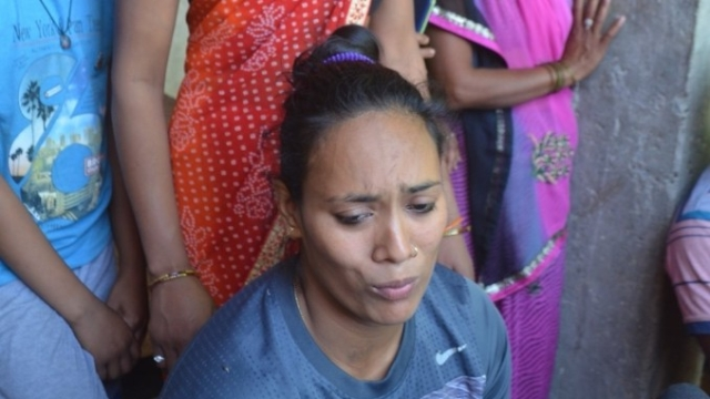 CWG medallist Poonam Yadav talks to the press after being allegedly attacked while she was visiting a relative