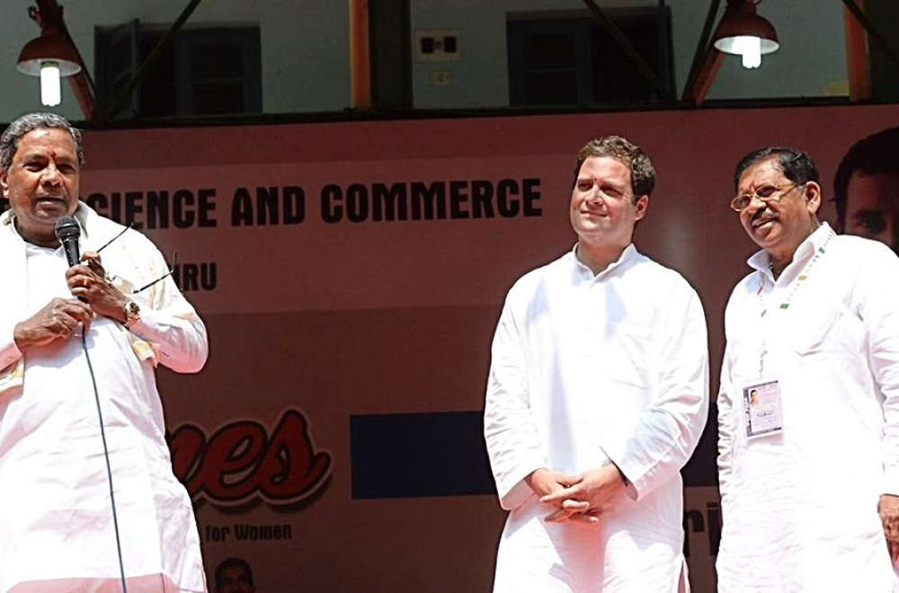 File photo of Karnataka chief minister Siddaramaiah (left)