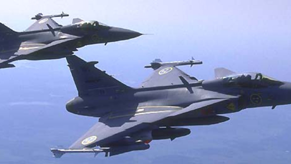 A file photo of Gripen mutirole aircraft