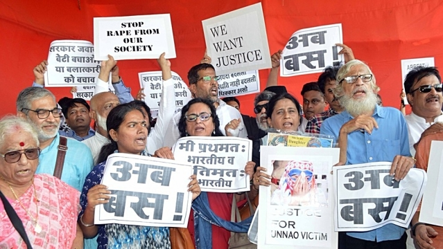 File photo of people demonstrating in Mumbai to protest against incidents of rape in Unnao (Uttar Pradesh) and Kathua (Jammu and Kashmir). Representative image