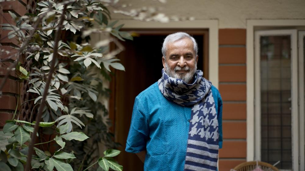 Kannada writer UR Ananthamurthy in Bengaluru in 2014